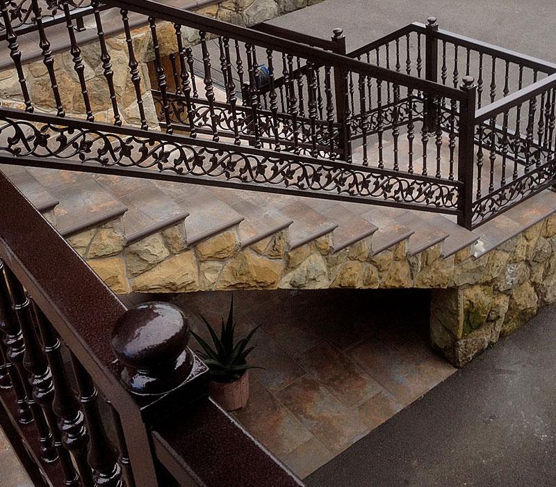Escalera de diseño orgánico