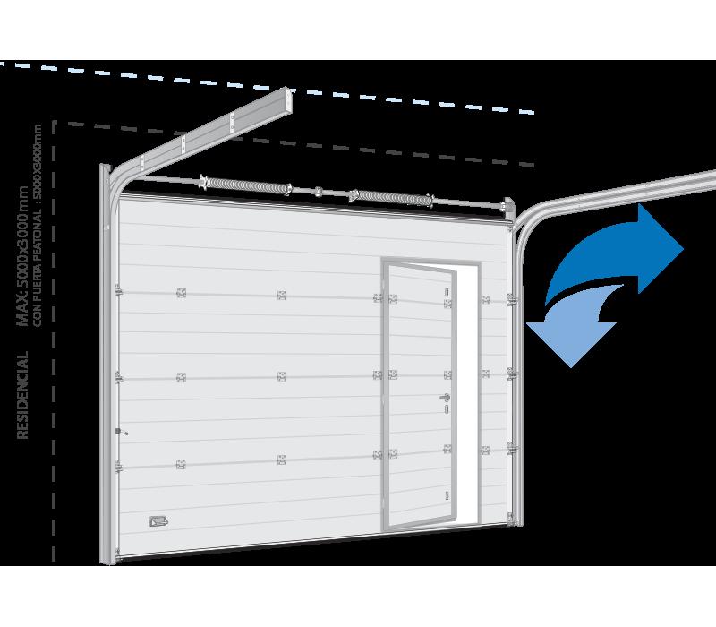 Portón de garaje croquis apertura